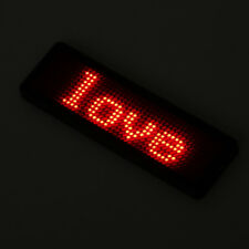 Programmable LED Digital Scrolling Message Name Tag Id Badge(12x48 Pixels)