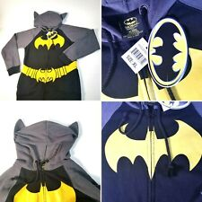 Womans Batman Cosplay Sz XL DC Comics Costume Zip Hoodie Sweatshirt with Ears