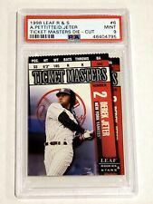 1998 Leaf Rookies & Stars Derek Jeter Ticket Masters Die Cut PSA 9 #6 /250 RARE!