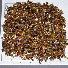 TIGEREYE GOLDEN CHIPS 5-15mm tumbled 1/2 lb bulk stones xmini+ Tiger Eye L03