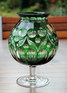 Nachtmann Bleikristallvase, grün, Bamberg, Vintage