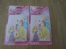 (2) Disney Princesses Wall Plate Electric Light Switch Cover W/ Screws