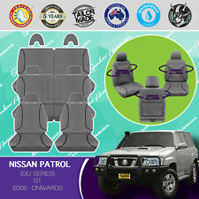 FOR NISSAN PATROL 2005- CURRENT CANVAS WATERPROOF TAILOR MADE GREY SEAT COVERS