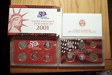 2001 S 10 COIN DIE CLASH ERROR SET SILVER PROOF SET WITH STATEHOOD QUARTERS 1