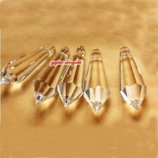 30pcs Clear Crystal Chandelier Part Glass Prisms 1.5''/38MM Wedding Drop