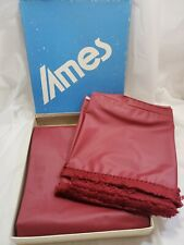 Vintage Retro Ames Industries Inc Shower Curtain - Winston Ruby Red