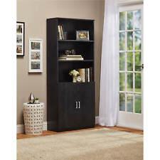3-Shelf Bookcase w/ Doors Bookshelf Storage Cabinet Shelf Furniture Home Office