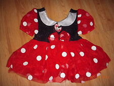 Disney Store MINNIE MOUSE Baby COSTUME 12-18M HALLOWEEN Infant Dress