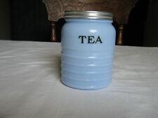 """VINTAGE JEANNETTE GLASS CO DELPHITE TEA CANISTER NEAR """"MINT"""" CONDITION"""