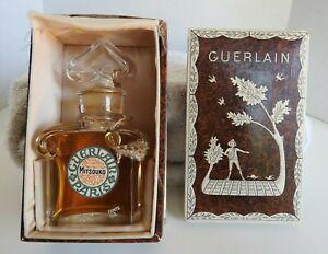 1950's Guerlain Mitsouko Profumo Estratto 37ml Baccarat Bottiglia W/Box Sigillo