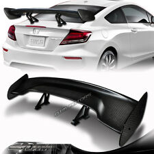 """57"""" Real Carbon Fiber Adjustable Rear Trunk GT Style Spoiler Wing Universal 6"""