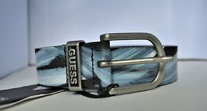 GUESS Men's Painted Wind Leather Belt (size M)