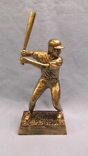 gold male Baseball statue trophy resin award Rf131