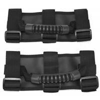Pair PREMIUM Roll Bar Grab Handle Handles Black for Jeep Wrangler CJ YJ TJ JK