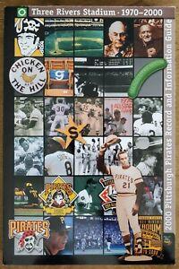 2000 PITTSBURGH PIRATES MLB MEDIA GUIDE - THREE RIVERS STADIUM FINAL SEASON