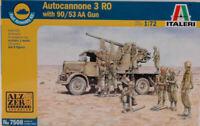 Camion de Pistolet 3 Ro With 90/53 Aa Gun Plastique Kit 1:72 Model Italeri
