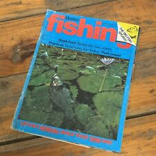 VINTAGE AUG 1980 'MODERN FISHING' MAGAZINE FRASER ISLAND SHARK HUNT ROD BUILDING