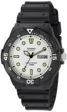 Casio Black Resin Dive Watch Mens Waterproof Swimming Snorkeling Crystal Wrist
