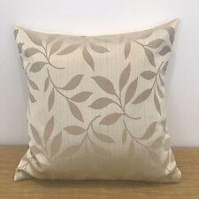 "CLEARANCE!.....Light Brown Floral Leaf Cushion Cover. Made Australia. 14"" (35cm)"