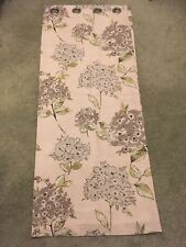 Dunelm Eyelet Taupe And Green Floral Curtains