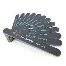 Professional Nail Files 120/240 Grit Double Sided Black Washable 12 Nail Files