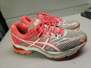 Asics Gel Flux 4 Womens Size 7.5 Gray Pink Athletic Training Running Shoes T764N