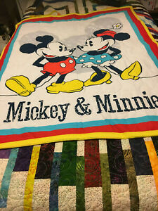 MICKEY AND MINNIE MOUSE BABY QUILT