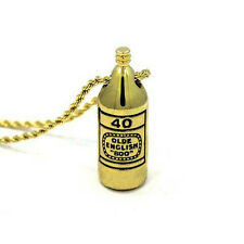 Han Cholo Brass 40 oz. Pendant Gold Necklace 24""