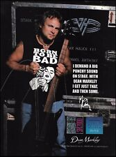 Michael Anthony (Van Halen) 1999 Dean Markley Bass Guitar Strings 8 x 11 ad
