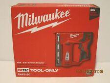 "Milwaukee 2447-20 M12 3/8"" Crown Stapler(Bare Tool)2019 NISB, FREE PRIORITY-SHIP"