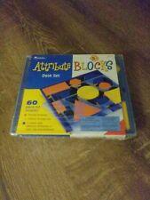 Learning Resources LER 12700 Attribute Blocks Desk 60 Piece Set