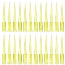 Oiiki Universal Pipette Tips 1000pcs 200ul Liquid Pipettor Tips Clear Yellow Dna