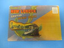 Vintage Souvenir Postcard Folder New London Croton and Ocean Beach S576