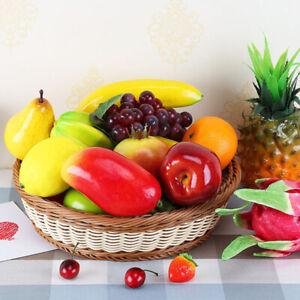 1PC Artificial Fruit Mix Fake Fruit Realistic Lifelike Props Home Kitchen Decor