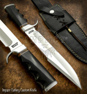 IMPACT CUTLERY RARE CUSTOM D2 BOWIE KNIFE BULL HORN HANDLE