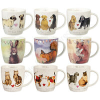 Churchill Alex Clark Squash Shaped Mug Animals Cat Dog Wildlife Mugs