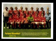 Fortuna Düsseldorf Mannschaftskarte 1973-74 TOP