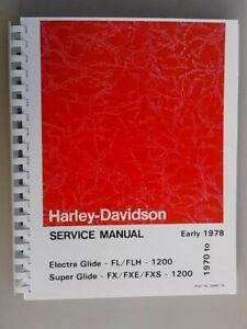 1970-1978 HARLEY SHOVELHEAD SERVICE MANUAL ELECTRA GLIDE SUPER GLIDE FL FLH FXE