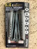 Fischer Wall Mount TV Bracket Fixing Kit High Quality 4x plug/screw set