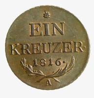s737_85) Österreich AUSTRIA 1 KREUZER 1816 A FRANZ II