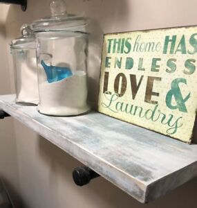 WOW!!! DISTRESSED RUSTIC WALL SHELF CUSTOM COLORS MADE TO ORDER AT ANY LENGTH!!!