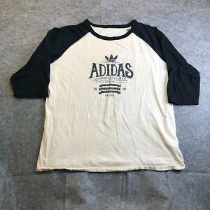Adidas Mens XL Short-Sleeve Logo Graphic T-Shirt Dope A$$ Shirt Ivory Blue