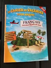 Le Cahier de Vacances pour Adultes French Exercises & Puzzles