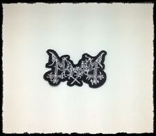 New Mayhem Patch Embroidered Sew Iron On Heavy Black Metal Rock Band Music Logo