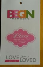 JESSICA SWIFT BLOMMA 12 PAGES 36 VELLUM QUOTE STICKERS LOVE