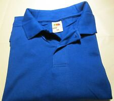 36 pc Golf Shirt 2XL Fruit of the loom Royal Color 100 % Cotton