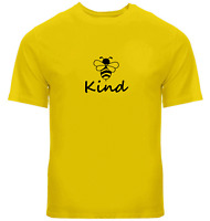 Bee Kind Unisex Tee T-Shirt Mens Women Tshirt Gift Print Kindness Bee Shirt Cute
