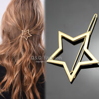 Blogger Gold Shooting Star Cut Out Hair Pin Clip Dress Snap Barrette Hen Party