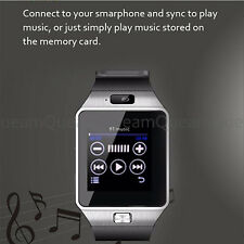 Uomini Smart Watch Digitale DZ09 da polso Sport Bluetooth per Cellulare Argento