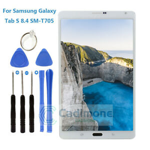 White For Samsung Galaxy Tab S 8.4 SM-T705 4G LTE LCD Touch Screen Digitizer DL1